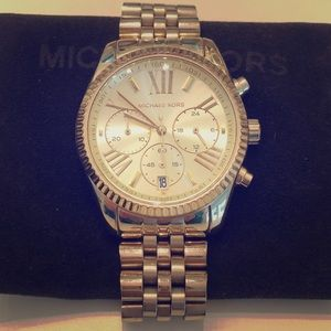 Michael Kors Lexington Gold Tone Watch